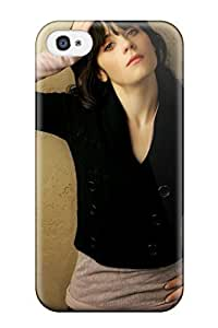 Premium Iphone 4/4s Case - Protective Skin - High Quality For Zooey Deschanel People Women by mcsharks