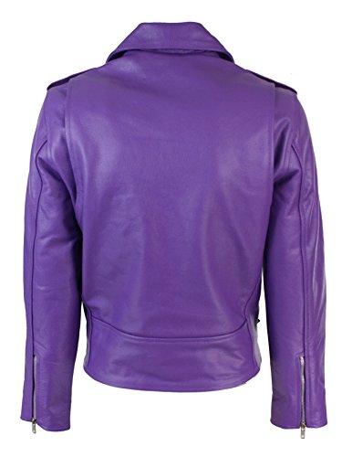 violet femme biker couleur Brando motard perfecto style Blouson cuir g4w78qgf