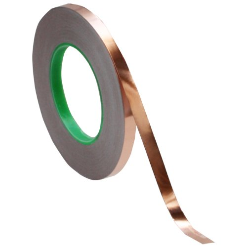 Cinta de Cobre 10mm x 50mt Adhesivo Conductor TAPES MASTER