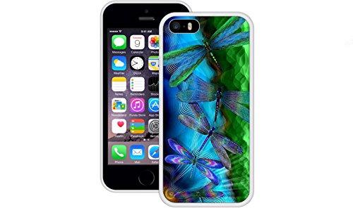 Libellen   Handgefertigt   iPhone 5 5s SE   Weiß TPU Hülle