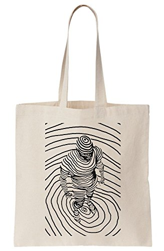 Tote Waves Artwork Line formed from Canvas Person Bag Of Exqw04H
