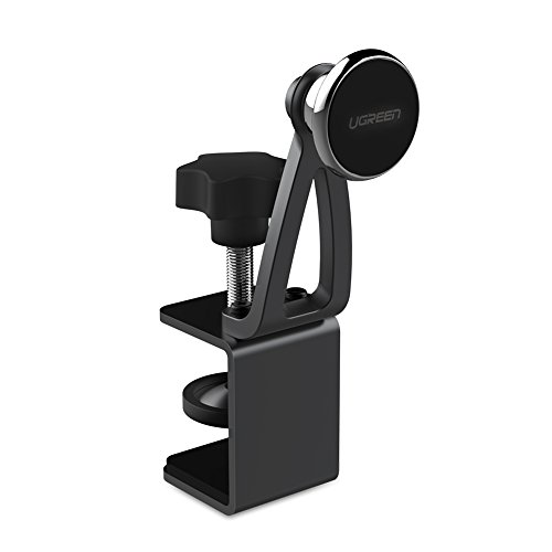 UGREEN Magnetic Phone Stand Desk Clamp Compatible for iPhone X 8 6 7 Plus 6S 5S 5 SE, Samsung Galaxy S8 S9 S7, Google Pixel 2 XL, Magnet Cell Phone Holder Table Mount for Smartphone