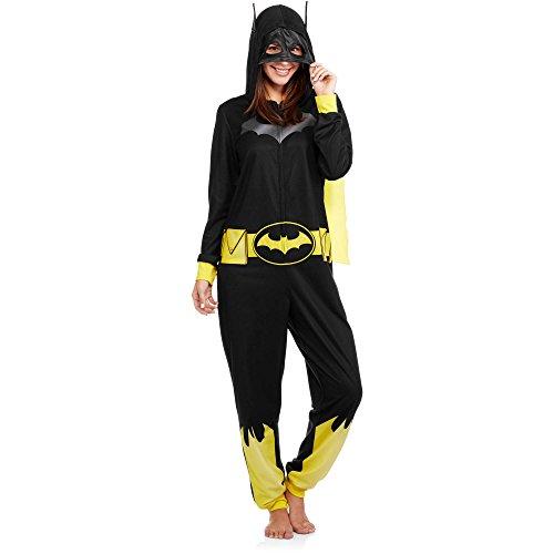 [DC Batman Comics Women's Costume Union Suit Pajama (XL (16-18))] (Plus Size Batman Costumes)