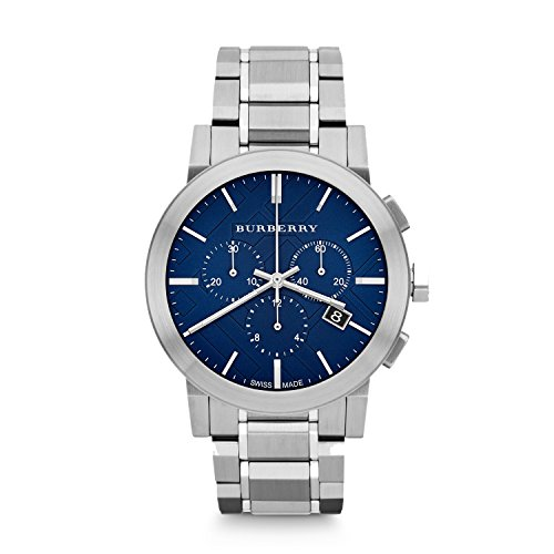 Stainless Steel Chronograph Blue Dial (Burberry Chronograph Blue Dial Stainless Steel Mens Watch BU9363)