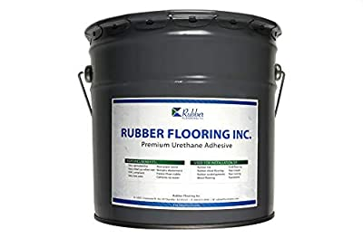 IncStores 4 Gallon Polyurethane Premium Urethane Rubber Flooring Adhesive