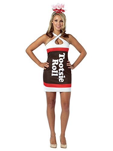 Candy Teardrop Dress Adult Costume Tootsie Roll - Standard -