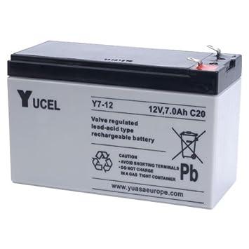 Batería Yucel Y7-12 7Ah 12V (Equivalente NP7-12 Yuasa)(151mm ...