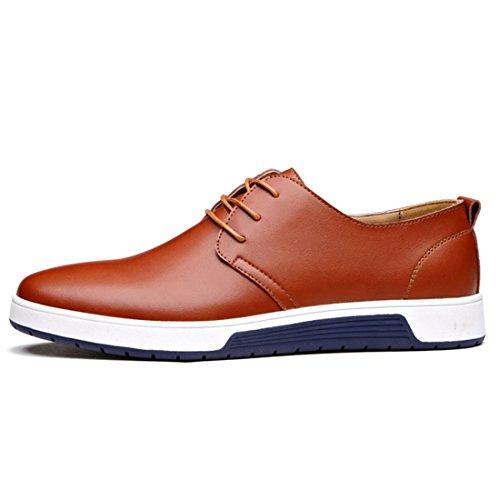 Xmwealthy Britse Stijl Ademende Platte Schoenen Mode Sneakers Brown02