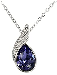 Women's Pendant Necklace - Water Drop Swarovski Element