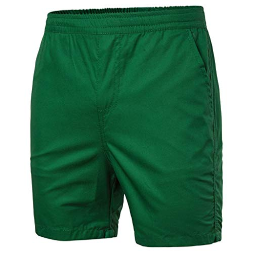 - LUCAMORE Men's Board Shorts Casual Solid Beach Men Short Trouser Shorts Pants with Pockets Green