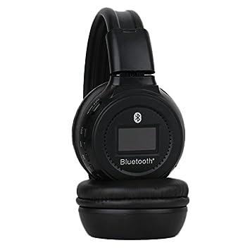 Strong Man n65s Bluetooth® de Active estéreo Headphone auriculares con tarjetas SD iluminada con pantalla digital y sintonizador radio integrado de Negro: ...