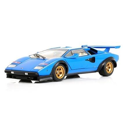 Lamborghini Countach Lp500s Ww Light Blue Diecast Model Kyosho