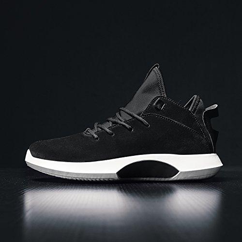 GUNAINDMX Spring Men's Shoes Flying Fabric Sports Sports Fabric Leisure Running Breathable 41 510 black 274dd2