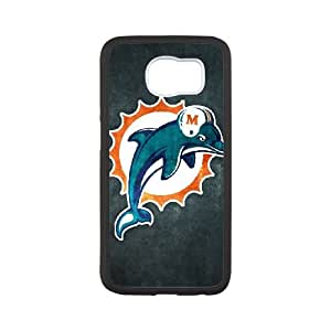 Miami Dolphins Samsung Galaxy S6 Cell Phone Case White 218y3-177434