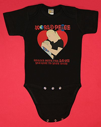 - World Peace Begins With The Love You Give To Your Baby short sleeve baby bodysuit