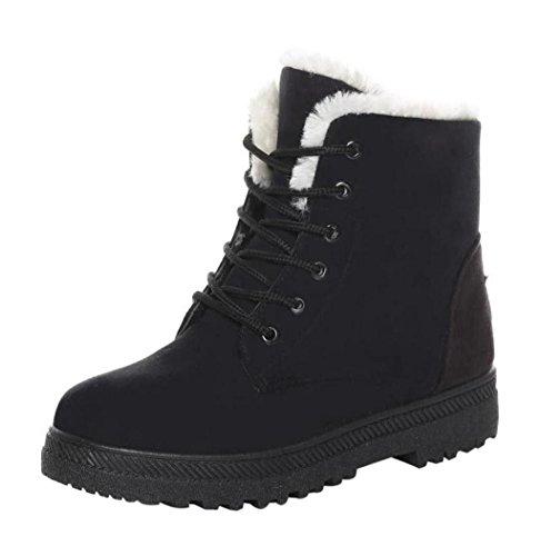 VIASA Fashion Winter New Classic Womens Warm Shoes Snow Boots Black