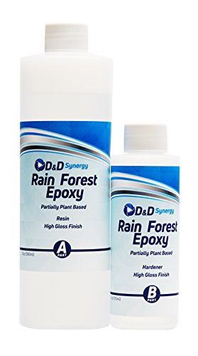 -   Rain Forest Epoxy - Commercial Grade Crystal Clear Epoxy Resin for Bar Tops & Tables - 16 oz Kit.