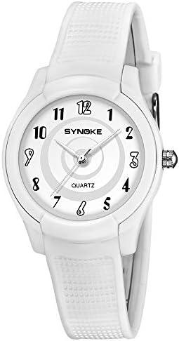 ボーイズ&ガールズ キッズ アナログ腕時計 日本製クォーツ 50m防水 ホワイト