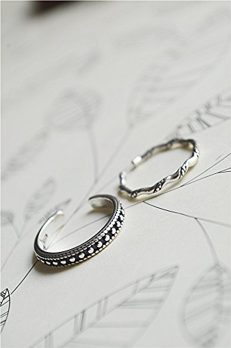 Generic South Korea to do the old retro opening S925 Silver Thai silver ring silver ring European and American street hormone by Generic