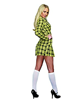 Dreamgirl Women's Fancy Girl Yellow Plaid Clueless Iggy Schoolgirl Costume