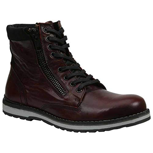 GBX Men's Dern Casual Boots, Burgundy Leather, 12 -