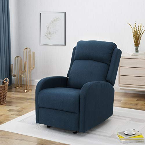 Ava Fabric Rocking Recliner, Navy Blue