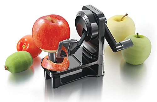 Simposh Multi-Peeler - Rotary Apple Peeler w/Serrated Stainless Steel Blades safely, quickly & easily peels Apple Pears Kiwi Tomato Vegetables & Fruits. Adjusts to different skin peel variations