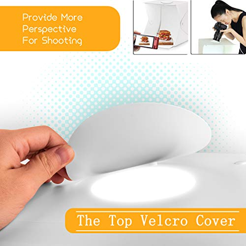 Zenic Photo Studio Box, Mini Portable Folding Photography Photo Studio Shooting Tents with Dual LED Lights and 6 Backdrops by zenic (Image #5)
