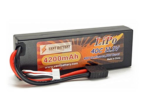11.1V 4200mAh 3S Cell 40C-80C HardCase LiPo Battery Pack w/ Traxxas High Current Style ()