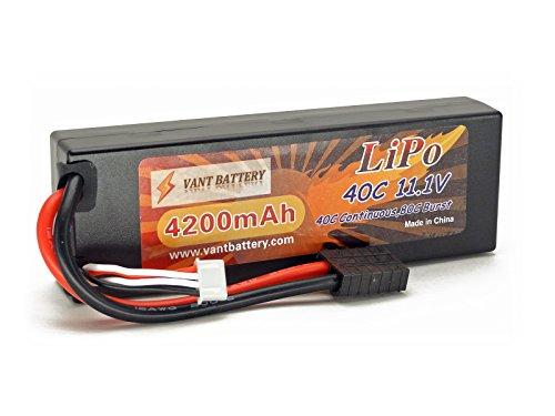 11.1V 4200mAh 3S Cell 40C-80C HardCase LiPo Battery Pack w/