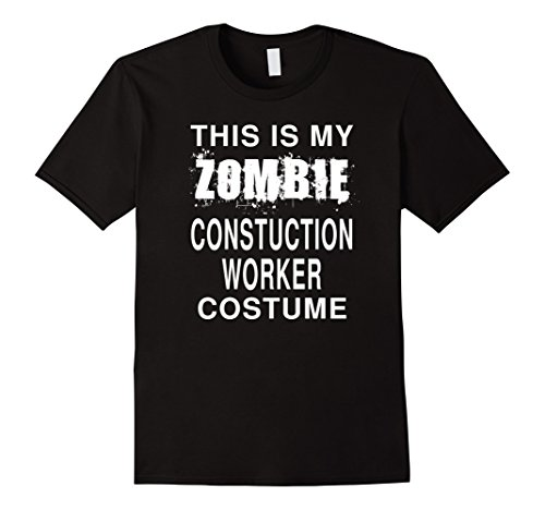 Mens Zombie Construction Worker Costume: Funny Halloween T-Shirt XL (Construction Worker Costume Male)
