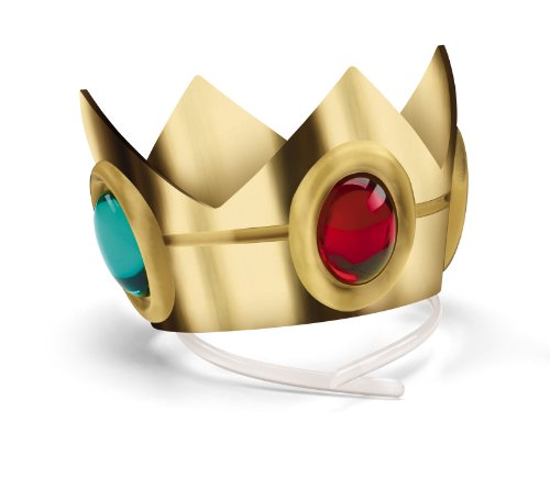 [Disguise Women's Nintendo Super Mario Bros.Princess Peach Crown Costume Accessory, Gold/Red/Green, One] (Nintendo Costumes For Adults)