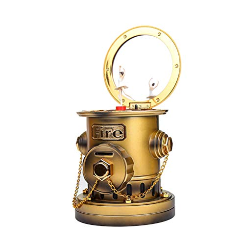 SUPVOX Fire Hydrant Piggy Bank Music Box Mechanical Music Coin Box Money Saving Pot Home Desktop Decoration (Random - Bank Fire Hydrant Piggy