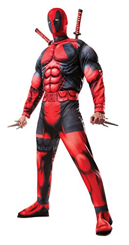 Rubies Mens Marvel Universe Classic Muscle Chest Deadpool Costume Multi-Colored Standard