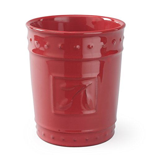 Signature Housewares Sorrento Collection Tool Jar, Ruby