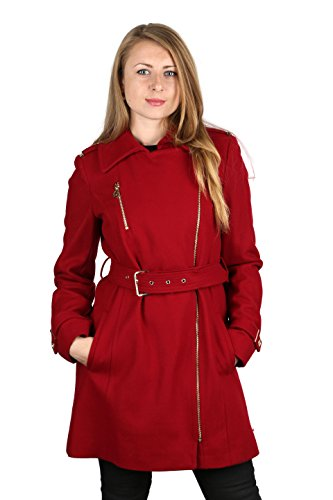 - Michael Michael Kors Red Wool Asymmetrical Coat (16)