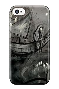 Hot Tpu Cover Case For Iphone/ 4/4s Case Cover Skin - Drawing by mcsharks