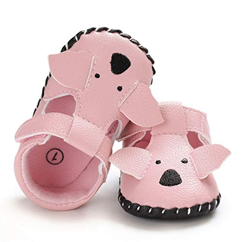 2e5d25d809f99 Leisuraly Cartoon Baby Moccasins with Soft Sole - Baby Girls Boys Shoes  Leather Slippers for Infant First Walkers Toddlers Pink
