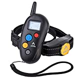 Dog Training Collar,Patpet 100% Waterproof &Rechargeable Dog Shock Collar 1000FT Remote with Blind Operation,Beep,Vibration and Shock Electric E-Collar for Small Medium Large Dog 10-88lbs