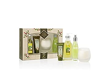 Cucina Deluxe Body Care Set holiday gift set Coriander and Olive Tree