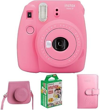 Fujifilm Instax Mini 9 Geschenkset Flamingo Rosa Kamera