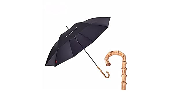 Amazon.com : SSBY Bamboo umbrella long handle woman man umbrella creative English gentleman retro, business long umbrella, Black : Sports & Outdoors