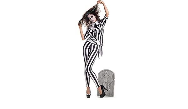 shoperama Beetlejuice Costume pour Femme Taille Le fantôme de ...