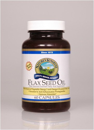 Naturessunshine Flax Seed Oil w/Lignans Support Circulatory and Immune System 60 softgel caps (Pack of 12)