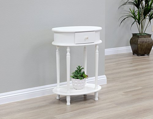 Cherry Oval Sofa Table - Frenchi Home Furnishing WH114, 20.69x14.97x9.46, White