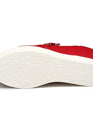 Heels in Scarpe Bianco Nero donna da 8 5 Njx Uk7 Eu41 Rosso Outdoor Hug us9 10 similpelle Platform Cn42 5 Bianco Casual qzPzpw
