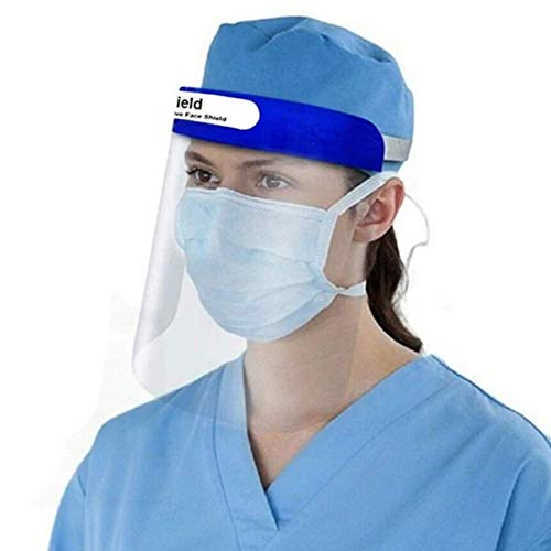 AllExtreme ORFSN01 350 Micron Disposable Face Shield with Adjustable Elastic Strap Anti-Splash Single Use Protective Facial Cover Transparent Full Face Visor with Eye & Head Protection (10 PCS) Price & Reviews