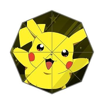 Dibujos animados Pokemon bola Cute Pikachu Custom plegable lluvia sol paraguas de Golf paraguas 8 varillas