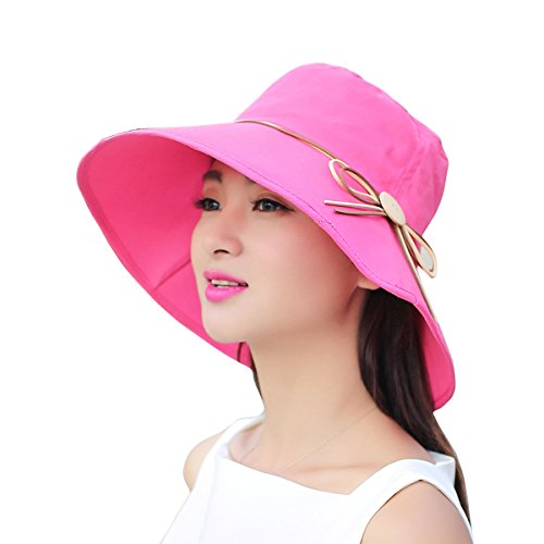 [Women Ladies Summer Sun Hat - WITERY Wide Brim Sun Hats Foldable Beach Hat Sun Visor Cloche UPF50+ Cap UV Protection for Women Girl Rose] (Kmart Costumes For Babies)
