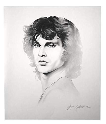 JIM MORRISON 20X24 LITHOGRAPH BY ARTIST GARY SADERUP SIGNED POSTER PHOTO DOORS from Inscriptagraphs